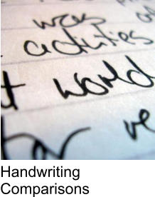 Handwriting Comparisons